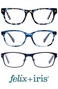 Feeling blue? We have glasses to match! | felix + iris | Shop Blue Glasses