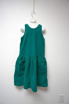 Gap . blue green corduroy . Y back . play dress . large by june22