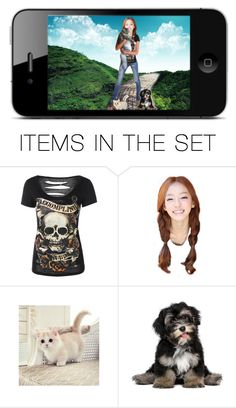 """the girl who loves animals"" by briana1964 ❤ liked on Polyvore featuring art"