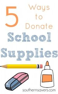 Help others this school year by learning 5 ways to donate school supplies!