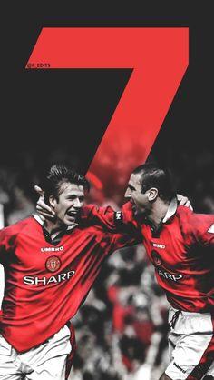 Cantona no 7 art print fu ball manchester united - Manchester united david beckham wallpaper ...