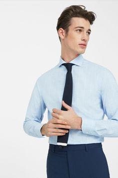 Erkek Mavi Gömlek MANGO Man | Trendyol