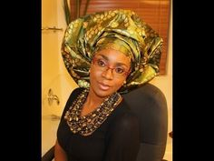 How to tie Gele: Bridal style - YouTube Ethnic Hairstyles, Scarf Hairstyles, Bad Hair, Hair Day, African Beauty, African Fashion, African Hats, African Wear, African Women