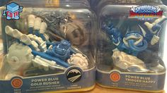 Skylanders SuperChargers Blue Trigger Happy + Blue Gold Rusher