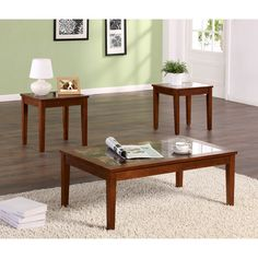 The Faux Marble Accent Table Set by Dorel Living includes a coffee table and two side tables. With a combination of faux marble and warm wood finish, this coffee table set will sync with your home decor. 3 Piece Coffee Table Set, Coffee And End Tables, End Table Sets, Sofa End Tables, Side Tables, Modern End Tables, Marble Wood, Living Room Modern, Home Furnishings