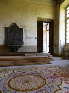 """Step Inside A Once-Abandoned French Château According to Waters, her approach to renovating Château de Gudanes is simple: """"To adapt ourselves to the château, rather than change her to adapt to us."""" That said, wood cut from fallen trees in the château parc will eventually be used to make four poster beds for guests."""