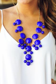 The Royal Blue Crew Necklace