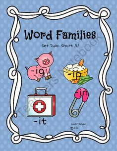 Word Families Set Two: short /i/ from Lovin' Kinder on TeachersNotebook.com -  (11 pages)  - This set contains beginning sound work for word families as well as CVC word building for word families.