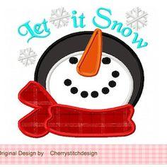 Snowman faceSunglasses Snowman Snowman applique Christmas | Etsy Applique Stitches, Machine Embroidery Applique, Applique Patterns, Applique Quilts, Applique Designs, Embroidery Ideas, Christmas Applique, Christmas Embroidery, Christmas Tag