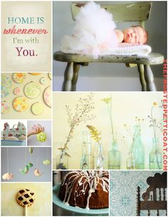 The Frosted Petticoat used our Lisboa Tile stencil for a sweet baby shower inspiration board with a rustic theme.