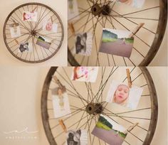 Make an antique bicycle wheel your new pin board.