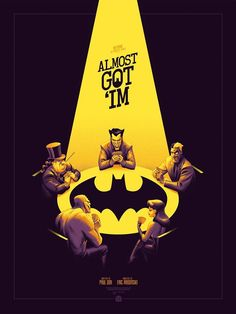 Mondo is releasing two new prints by Phantom City Creative based on Batman: TAS episodes 'Vendetta' and 'Almost Got 'Im', available for a very limited time. Batman Comic Art, Gotham Batman, Im Batman, Batman Robin, Batman Fight, Bruce Timm, Batman Animated Series Episodes, Catwoman, Batgirl