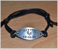 """Personalised """"Name & Date"""" Bracelet"""