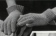Vintage mesh sprot gloves pattern by TinyWeeTinks on Etsy