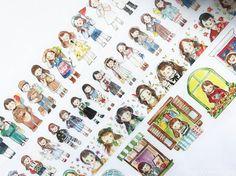 Samples washi tape samples RT Molinta watercolor vol.5