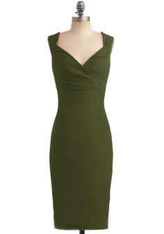 Lady Love Song Dress in Fern | ModCloth ($79.99), too bad it's not paler! love love love the cut of this one