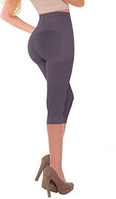 aeaec1d69 Laty Rose Women Bodywear Slimmer Booty Lifter Undetectable Tummy Leg Body  Control Slimming Shapewear Body Shaper Seamless Capri Legging Faja Purple S  at ...