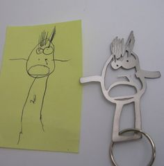 Inspired: formiadesign takes your kid's drawing and turns it into a keepsake keychain.