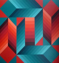 Victor Vasarely - Stri-dio-II   From a unique collection of paintings at http://www.1stdibs.com/art/paintings/