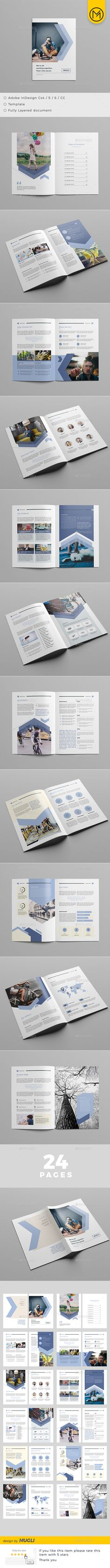 The Brochure Template InDesign INDD - 24 Pages
