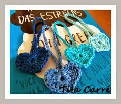 'Tita Carre' Tita Carré - Agulha e Tricot : Corações em crochet e a Culpa é das estrelas