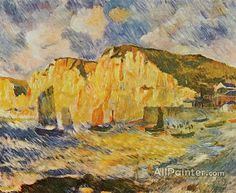 Pierre Auguste Renoir Cliffs oil painting reproductions for sale
