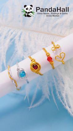 Diy Jewelry Videos, Diy Crafts Jewelry, Diy Jewelry Making, Diy Jewelry To Sell, Diy Jewelry Tutorials, Jewelry Ideas, Wire Jewelry Designs, Handmade Wire Jewelry, Handmade Rings