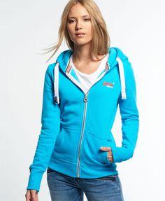 Superdry Sweat zippé à capuche Orange Label Primary Bleu