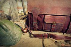"""Leather Messenger Bag 18"""" / Brown Leather Briefcase 18"""" / Handbag / Satchel / Hip Bag / Shoulder Bag / Cabin Travel Bag / Laptop"""