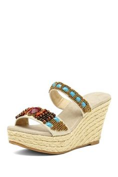 Braidella Slip-On Wedge Sandal