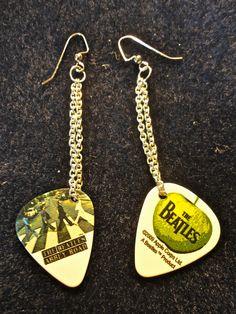 Beatles Guitar Pick Earrings