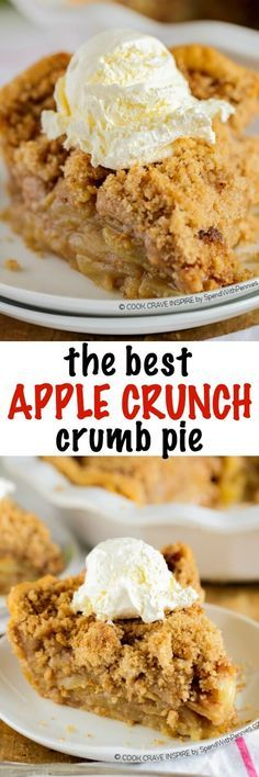 The BEST Apple Crumb Pie! This is truly the best apple pie recipe youll ever make! Loaded with fresh tart apples and topped with a sweet brown sugar crumble, this is one recipe that will be requested over and over!