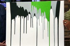 D.I.Y Wall Art: Drizzle Art