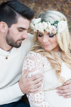 A Beautiful Into The Woods Boho-Chic Maternity Session By Bridget Rochelle Photography/Fawn Over Baby