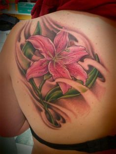 Lilly Tattoo for my Grandma Kay who passed away last year. Her favorite flower, her middle name was Lillian.