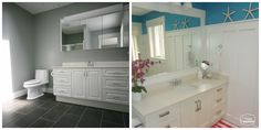 before and after ensuite watermark at thehappyhousie