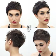All sizes   Textured Brunette Pixie with Blunt Lines and Top Fringe Lengths   Flickr - Photo Sharing!