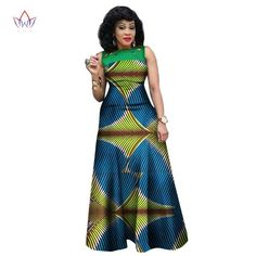 African Dresses for Women, African Print Clothing, Ankara Long Dress Plus Size