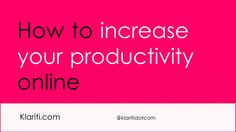 increase-productivity-online