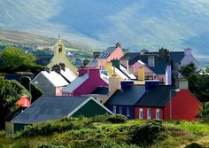 Eyeries, an iconic village of just 70 people perfectly captures the look and feel of Ireland :) On the Ring of Kerry Ireland Hotels, Ireland Travel, Backpacking Ireland, Ireland Weather, Ireland Fashion, Images Of Ireland, County Clare, Irish Culture, Cork Ireland