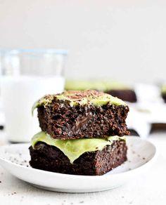 Brownies de aguacate con dulce de chocolate