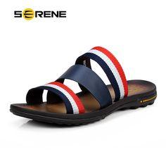 5da3736674ac SERENE 2017 Men Shoes Male Sandals Slippers Flip Flops Rubber Size 38~44 Summer  Beach Shoe Babouche Chinela Baboosh fenty Slides