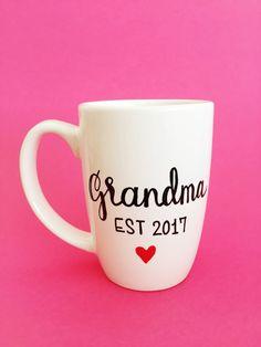 Pregnancy Reveal Grandma Mug, Pregnancy Announcement Grandma Mug, Baby Announcement Grandma Mug, Grandma Mug, Gifts For Grandma by MaxandMitchCo on Etsy https://www.etsy.com/listing/288198593/pregnancy-reveal-grandma-mug-pregnancy