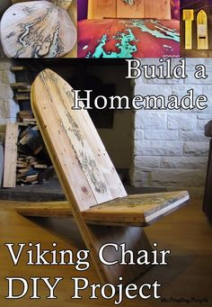 This step by step tutorial of how to build a homemade viking chair diy project is detailed in two videos, pictures and instructions. This viking chair is m