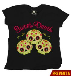 """Camiseta Sweet Death""  morra  disponible en www.kingmonster.com.mx"