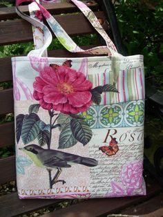 Tote Shopping Bag Pink Green Aqua Cream £12.00