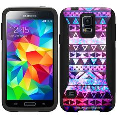 Otterbox Commuter Case for Samsung Galaxy S5 - Nebula Black Aztec Galaxy