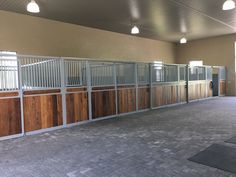 Do you have a narrow barn aisle? Sliding stall fronts provide a major space saving advantage. They are often ideal for busy facilities. #horsestalls #equine #slidingstalls #besthorsestalls #horses #cee #dreambarn