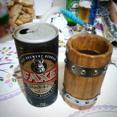 viking style! #viking #beer #tankard #beermug #faxe #brotherhood Wooden Beer Mug, Wood Mug, Beer Mugs, Woodworking Shop, Woodworking Projects, Viking Decor, Heart Crafts, Best Beer, Bowl