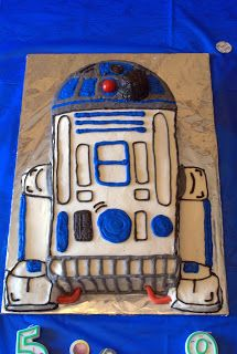 not so simple: Boys' Birthday R2D2 cake that looks fairly easy